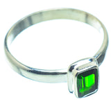 Chrome Diopside Rings handcrafted by Ana Silver Co - RING36162