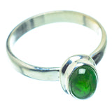 Chrome Diopside Rings handcrafted by Ana Silver Co - RING36291