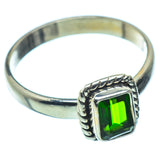 Chrome Diopside Rings handcrafted by Ana Silver Co - RING36752
