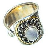 Rainbow Moonstone Rings handcrafted by Ana Silver Co - RING39302