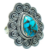 Blue Copper Composite Turquoise Rings handcrafted by Ana Silver Co - RING39570