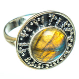 Labradorite Rings handcrafted by Ana Silver Co - RING44902