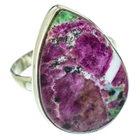 Ruby Zoisite Rings handcrafted by Ana Silver Co - RING54112