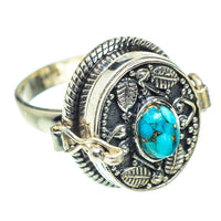 Blue Copper Composite Turquoise Rings handcrafted by Ana Silver Co - RING54576