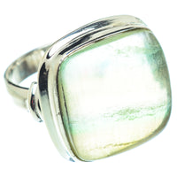 Green Fluorite Rings handcrafted by Ana Silver Co - RING54714