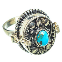 Blue Copper Composite Turquoise Rings handcrafted by Ana Silver Co - RING54950
