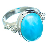 Larimar Rings handcrafted by Ana Silver Co - RING5567