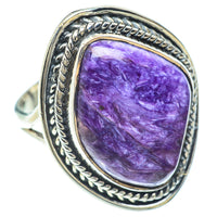 Charoite Rings handcrafted by Ana Silver Co - RING55896