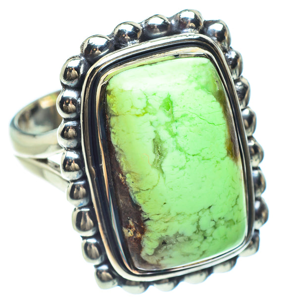 Lemon Chrysoprase Ring Chrysoprase Silver Jewelry Size 8 Solid Sterling Silver Ring