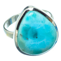 Larimar Rings handcrafted by Ana Silver Co - RING7080
