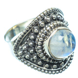 Rainbow Moonstone Rings handcrafted by Ana Silver Co - RING7876