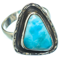 Larimar Rings handcrafted by Ana Silver Co - RING7882