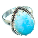 Larimar Rings handcrafted by Ana Silver Co - RING9227