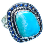 Larimar Rings handcrafted by Ana Silver Co - RING979911