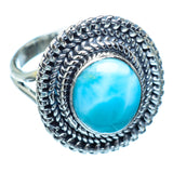 Larimar Rings handcrafted by Ana Silver Co - RING982348