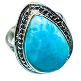 Larimar Rings handcrafted by Ana Silver Co - RING984964