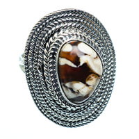Peanut Wood Jasper Rings handcrafted by Ana Silver Co - RING991164