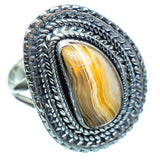Laguna Lace Agate Rings handcrafted by Ana Silver Co - RING996763