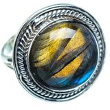 Labradorite Rings handcrafted by Ana Silver Co - RING998277