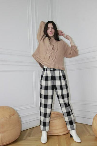 Luna Pant Grey Check