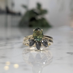 An unconventional custom engagement ring design