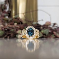 A renewed family heirloom makes for a beautiful custom engagement ring