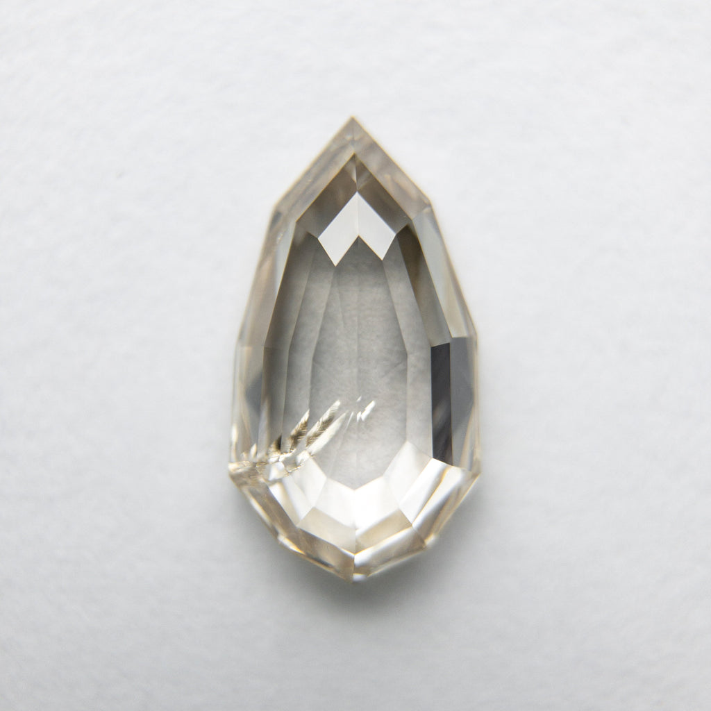 1.26ct 9.92x5.41x2.74mm Geo Pear Rosecut 18090-17