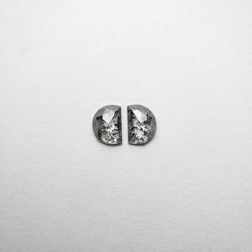 0.65ct 5.08x3.67x1.70mm Half Moon Rosecut Matching Pair 18454-06