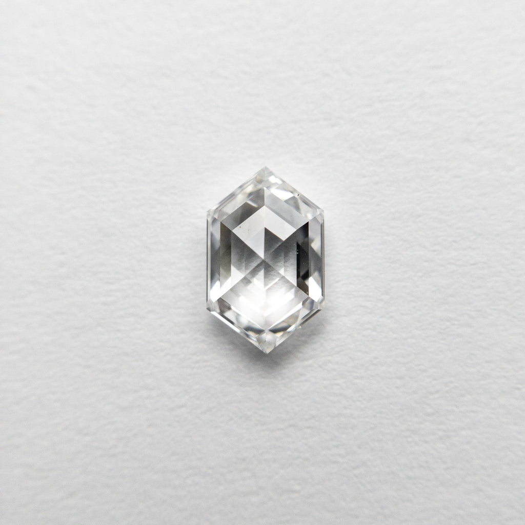 0.52ct 6.55x4.12x2.38mm VS1 D Hexagon Rosecut 18458-12 🇷🇺