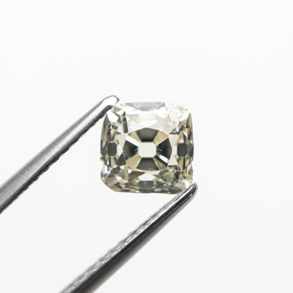 1.23ct 6.57x6.42x3.88mm SI2 U-V Antique Old Mine Cut 18468-01