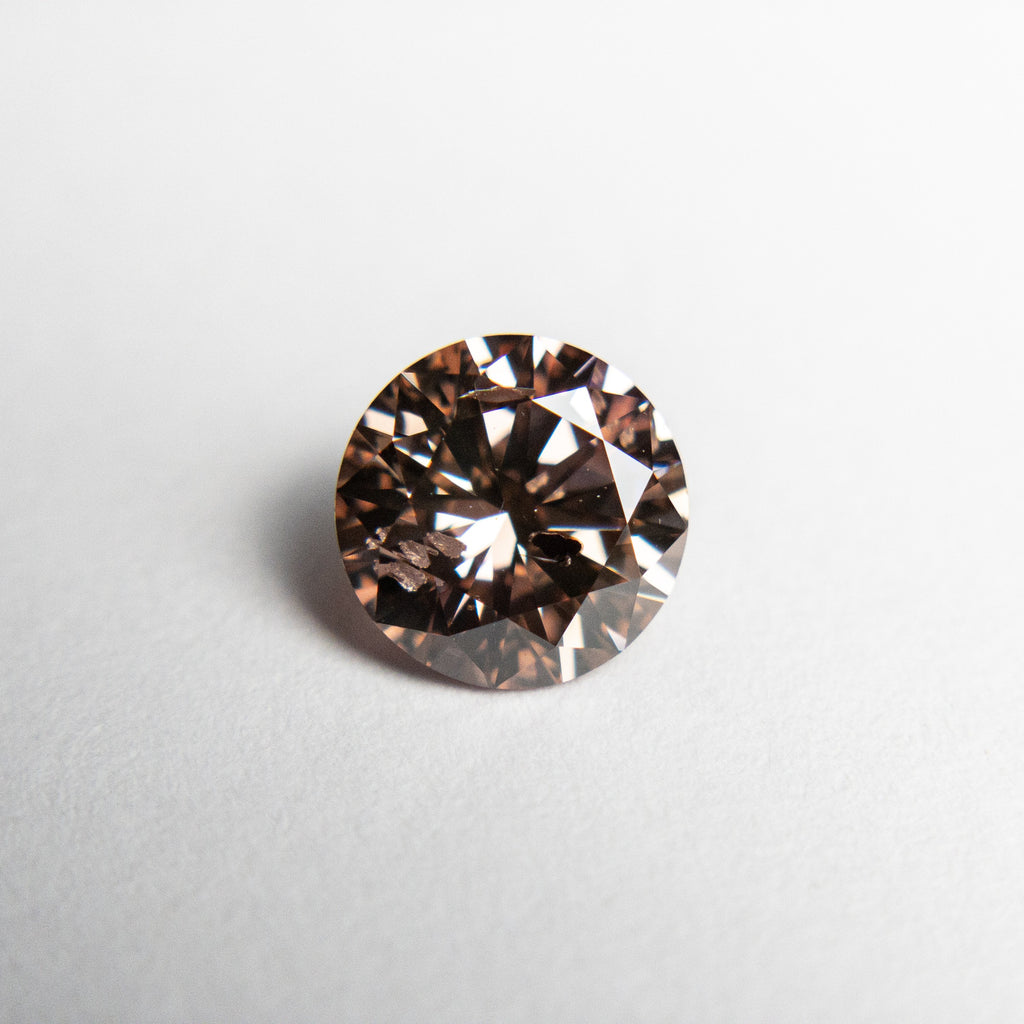 1.01ct 6.47x6.42x3.92mm Argyle GIA I1 Fancy Brown Pink Round Brilliant 18563-01