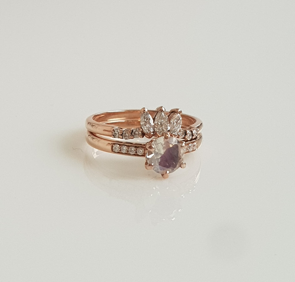 Queen Stacker - 10CT Rose Gold - Size 6 1/2