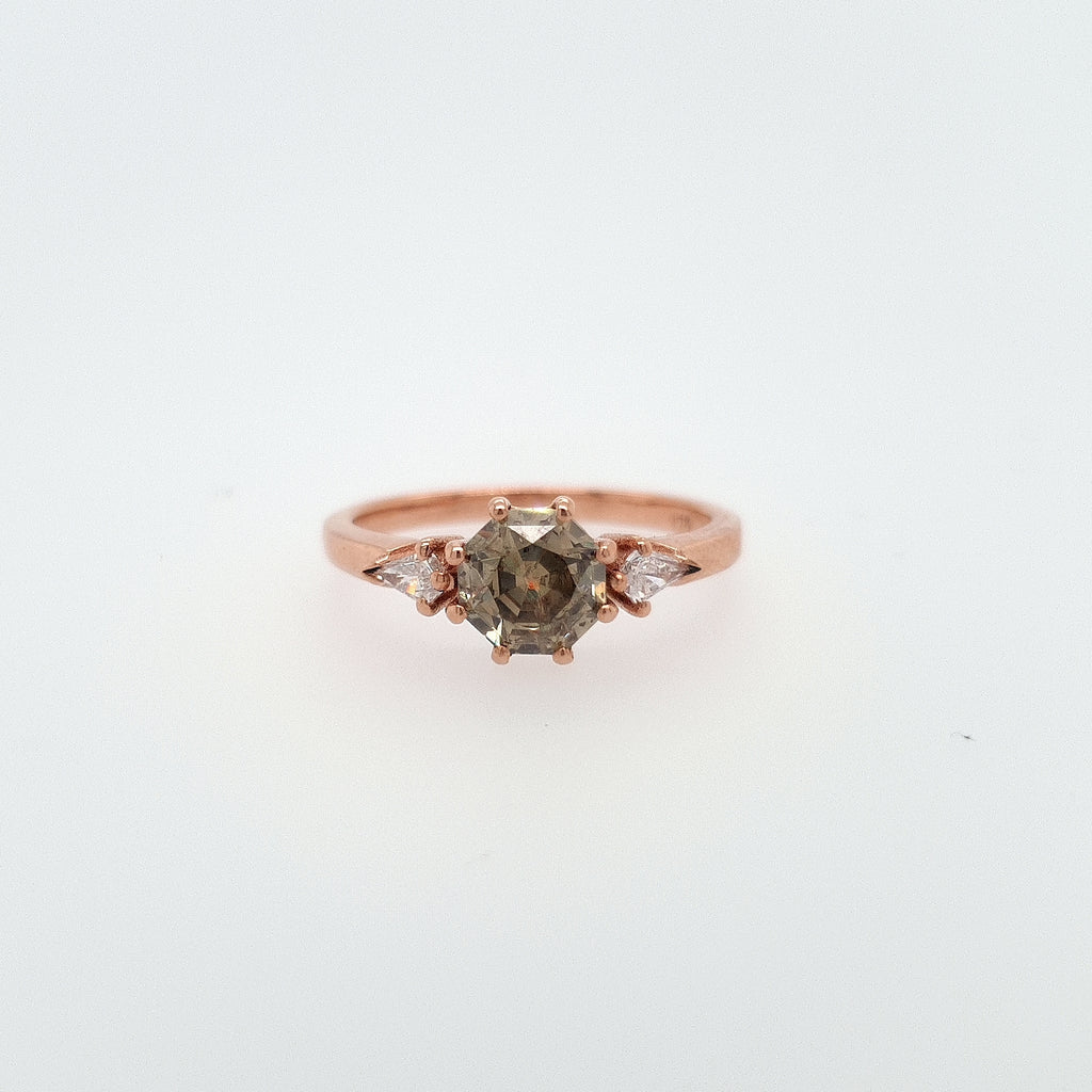 Champagne Diamond + Kite Ring