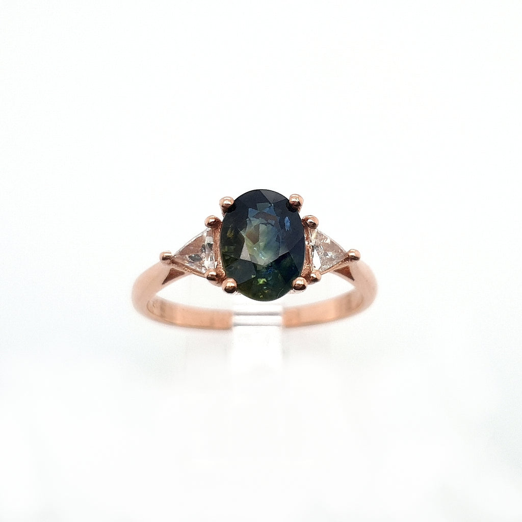 Partii Sapphire Trillion Ring