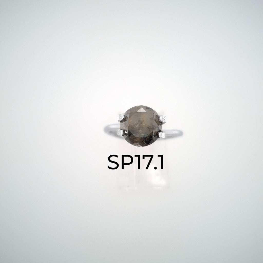 Design Your Own Custom Salt and Pepper Diamond Ring