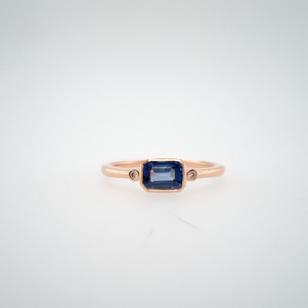 Long Winter Ring with Sapphire - Ready to Ship