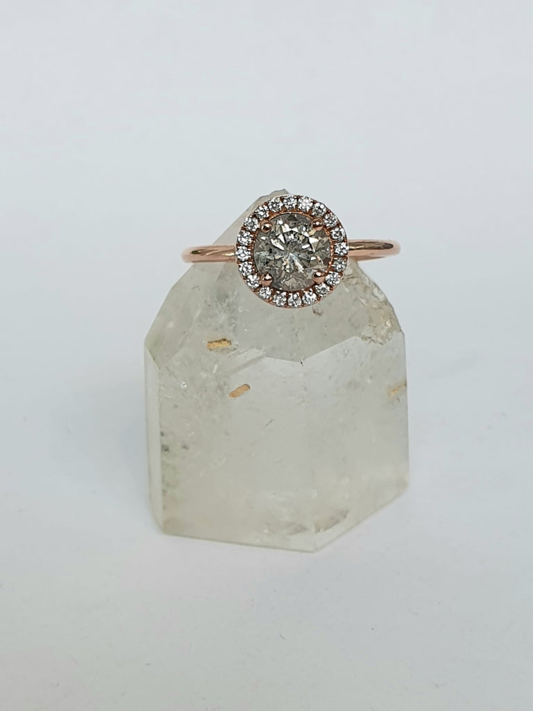 Salt and Pepper Diamond Halo
