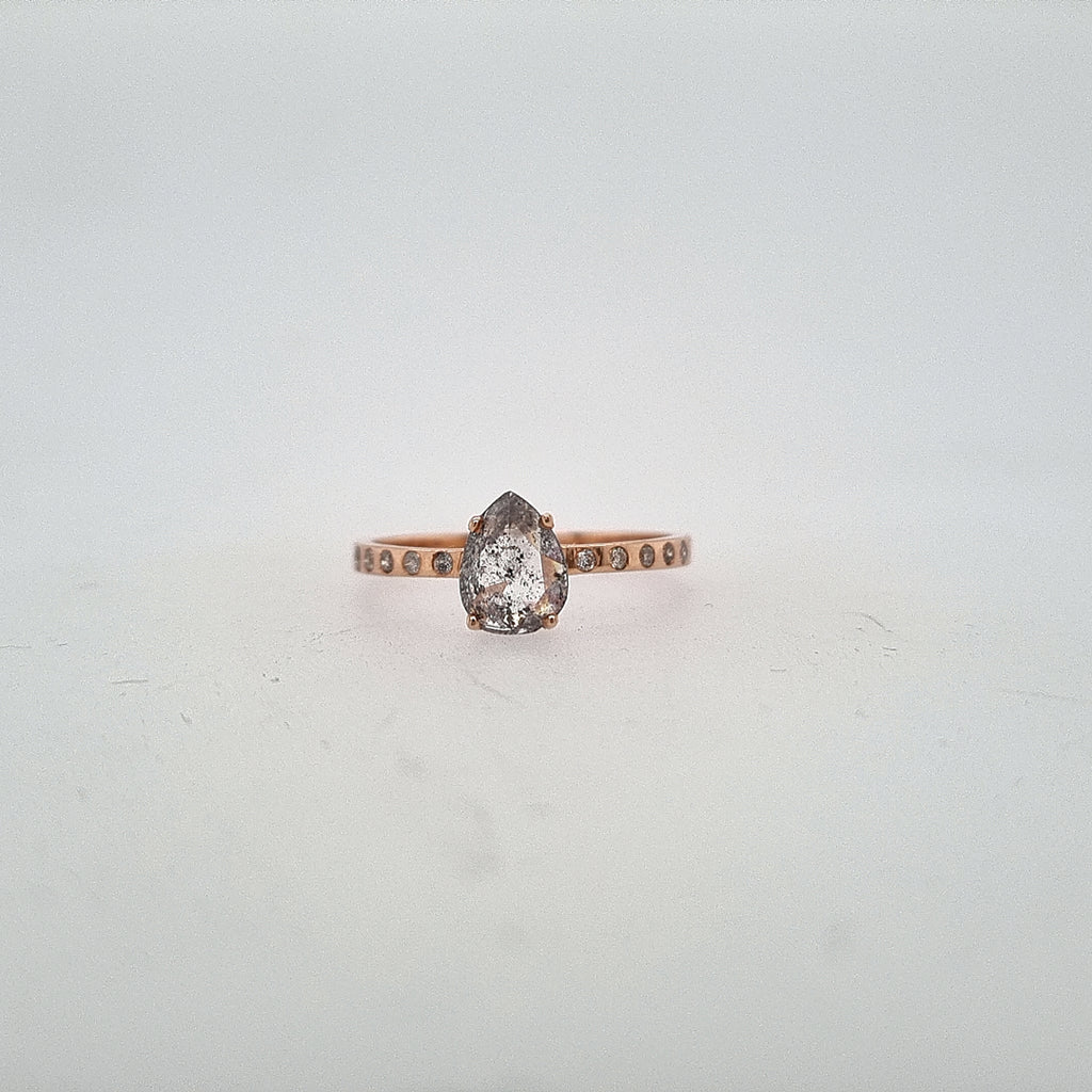 Salt and Pepper Diamond Solitaire