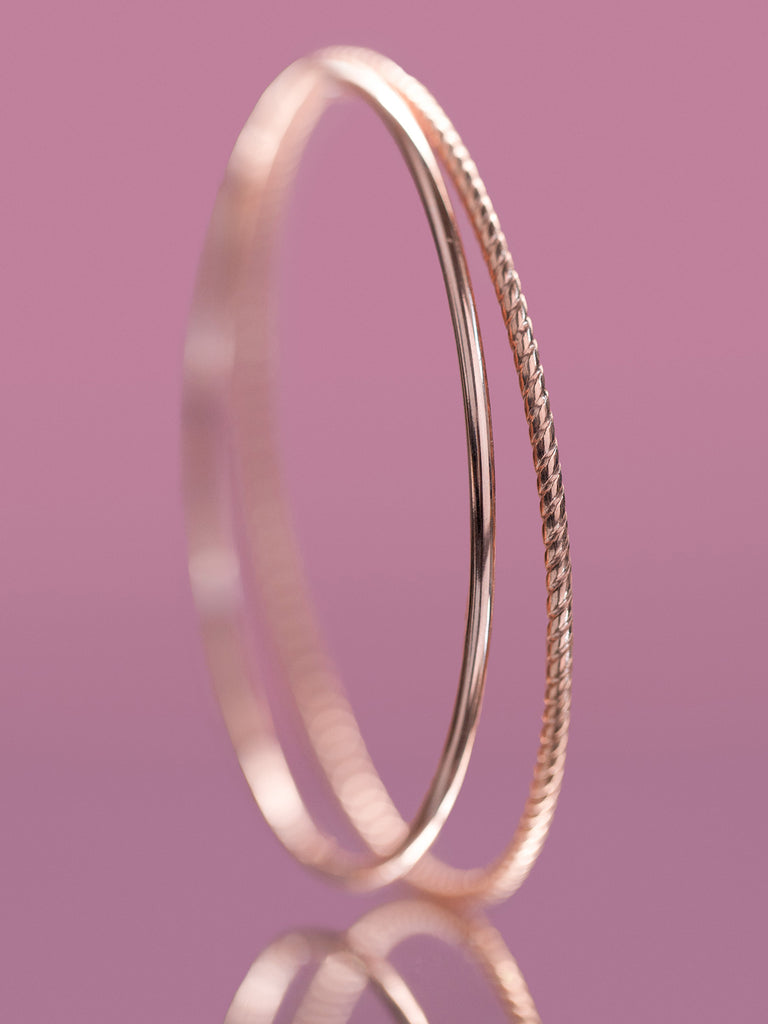 Solid Gold Bangle - Ready to Ship