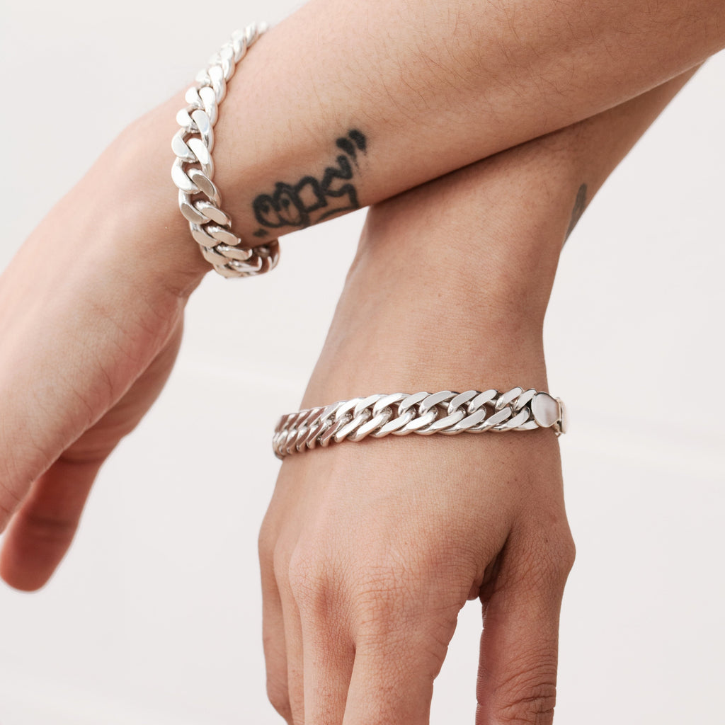 Double Link Curb Chain Bracelet