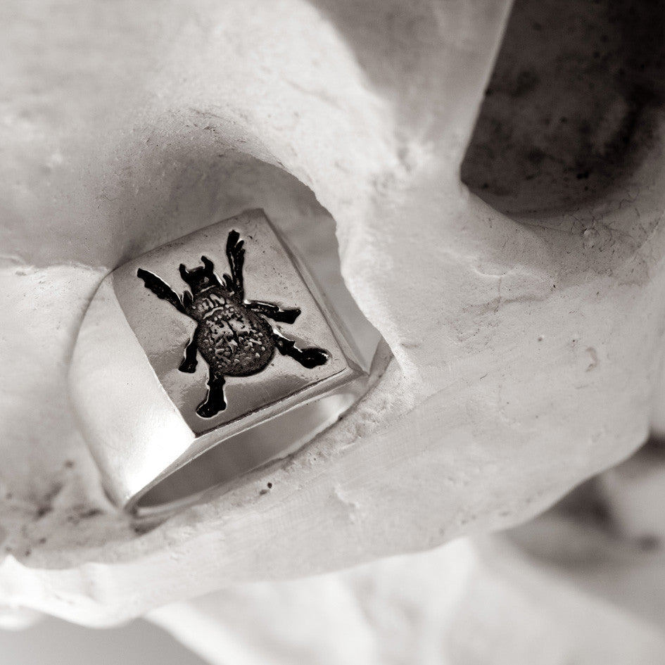 Scarab Russian Tattoo Signet - Ready to Ship