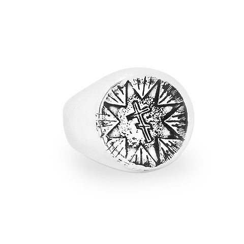 Pavlo Russian Tattoo Signet Ring - Ready to Ship