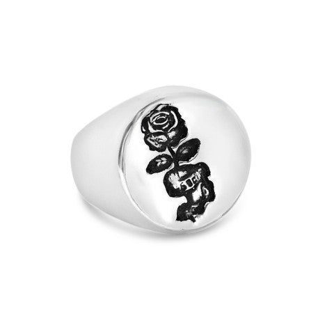 XMAS STOCK - Rose Russian Tattoo Signet