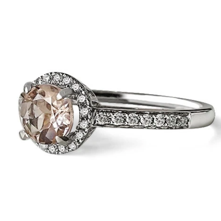 Morganite Halo