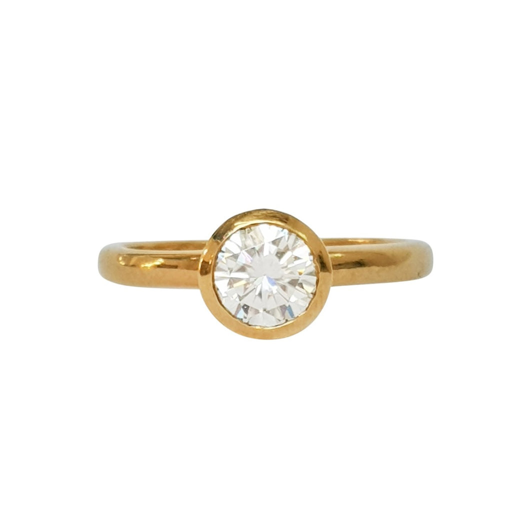 Bezel Solitaire Ring