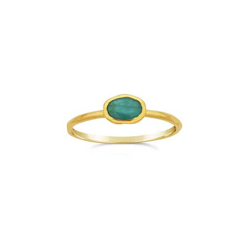 Oval Stacker -  Emerald