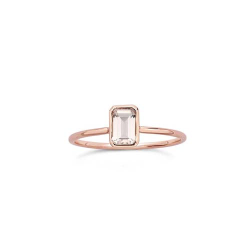 Octagon Stacker - Rose Quartz