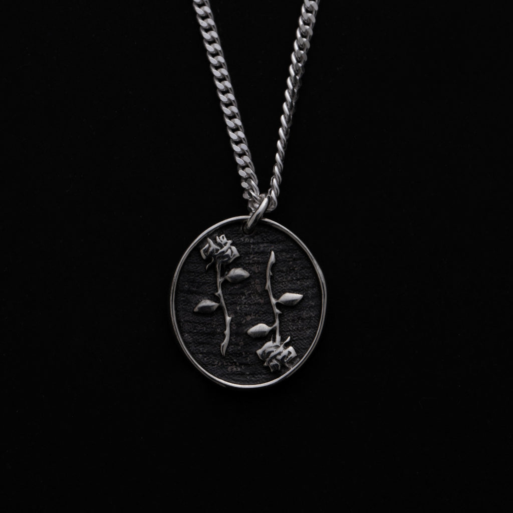 Double Edged Rose Pendant - Memento Mori