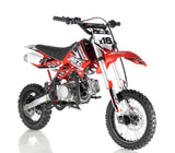 Apollo DB-X16 125cc Fully Automatic Dirt bike - Red