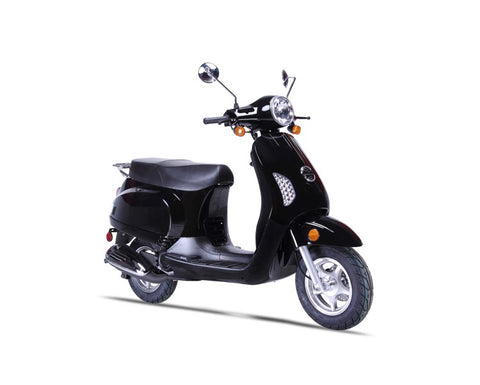Wolf Lucky 50cc Scooter - Black